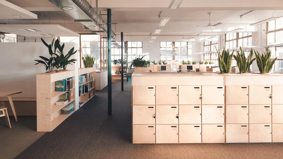espace de bureau openwood