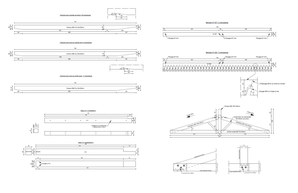 PAC : Exemple de plan de taille - bureau d'études bois
