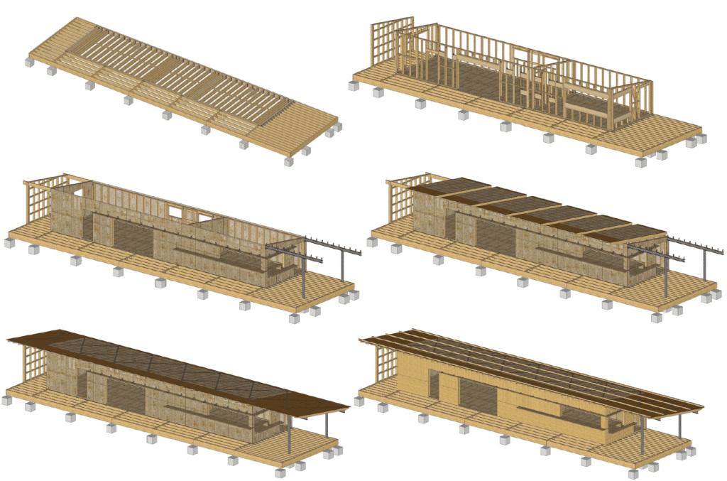 PAC : exemple de plan de montage - plan de pose - bureau d'études bois