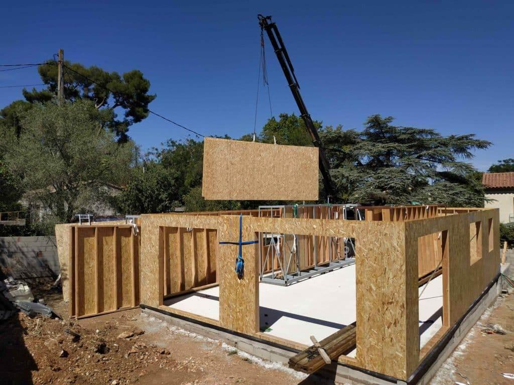 maison prefabrication ossature bois - c