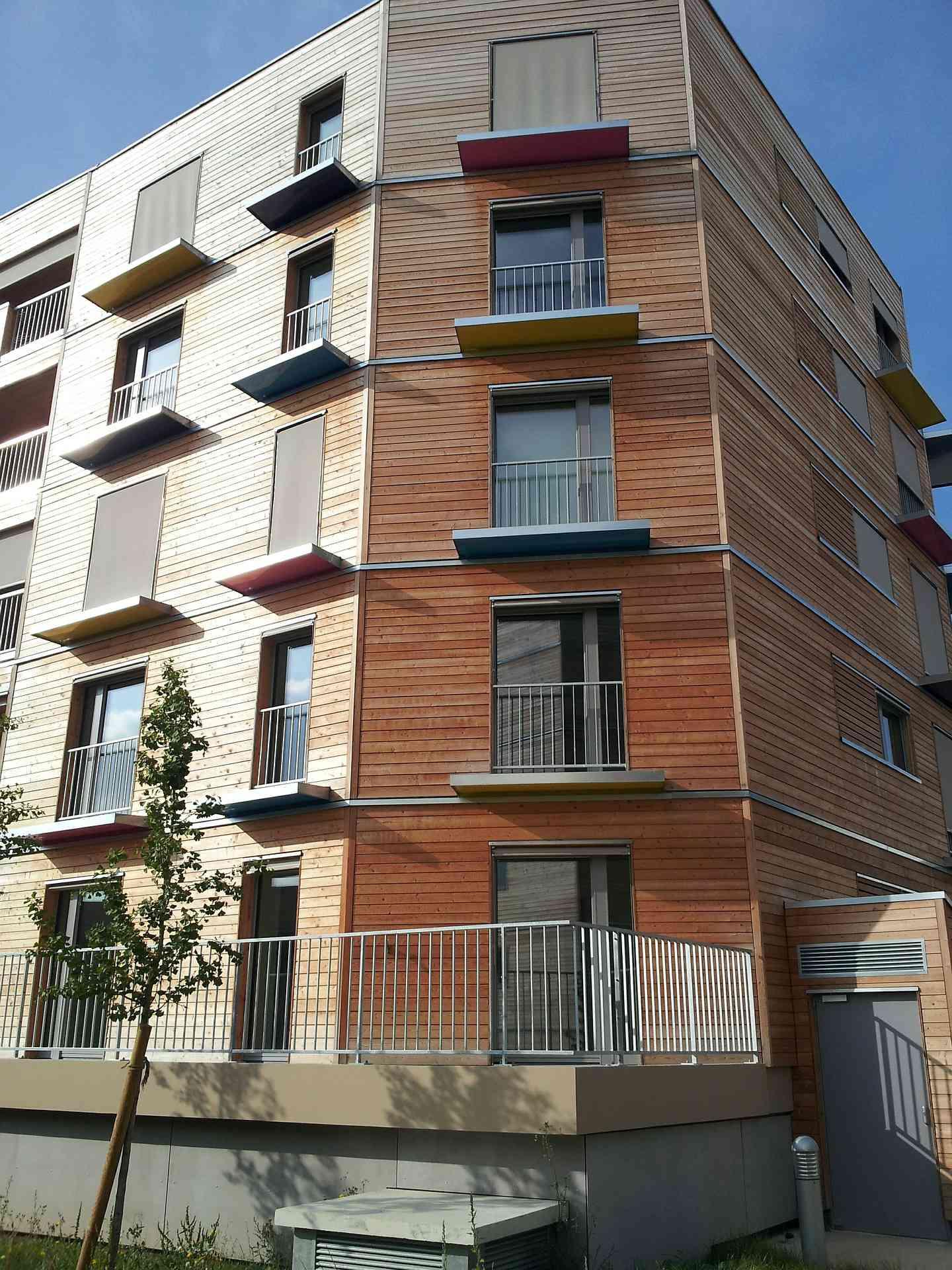 Logement collectif bois - Immeuble