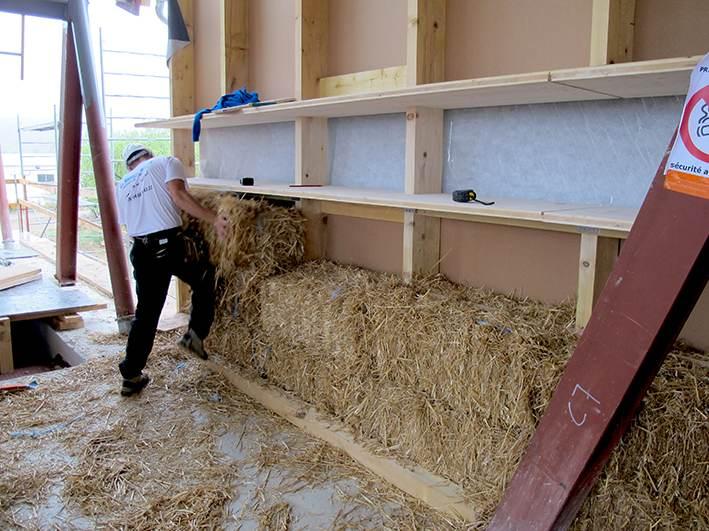 construction bois paille