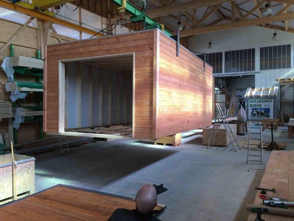Construction modulaire bois en atelier