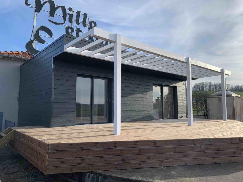 Studio modulaire bois - posé sur toit